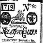 Titelseite des Hamburger Relations-Couriers vom 14. April 1713